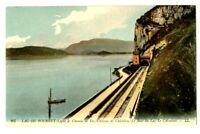CPA 73 Savoie Aix-les-Bains Lac du Bourget   Châtillon Brison chemin de fer