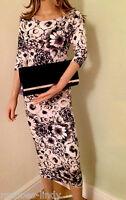 New Season Black/White Midi Dress  By John Zack  SIZES  8 10 12 14