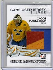 JACOB MARKSTROM 09/10 ITG H&P Jersey Rookie SILVER /40 Game-Used Hockey Card