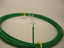 25 feet 24 AWG Green Shielded Silver Plated  PTFE Wire Coax SPC