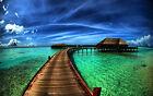 Bora Bora Beach Home Decor Canvas Print, choose your size.