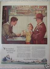LINCOLN  AUTO NORMAN ROCKWELL SWISS WATCH   ADS  1955