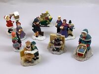 1980's- 90's Lemax & Others Christmas Village Victorian People Figurine Lot of 9