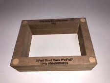 """Wood 2-Part Flask Mold for Sand Casting Jewelry Or Craft Making Tool 6""""x4""""x2"""""""