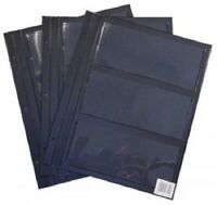 HARRIS DELUXE 4 POCKET CURRENCY PAGES FOR SMALL NOTES 10 PACK FREE SHIPPING!