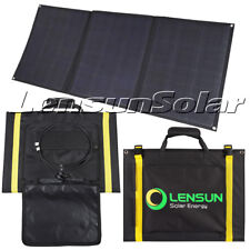 Lensun 100W 12V Portable Folding Solar Panel for Camping, RVs, Boats and Yachts