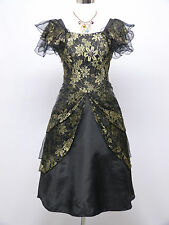 Cherlone Black Prom Ball Evening Bridesmaid Wedding Formal Gown Dress Size 14