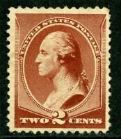 USA 1883 ABNC 2¢ Washington Scott 210 Mint No Gum I819