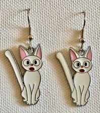 Lily Anime White Cat Earrings Jiji Kiki Surgical Hook New