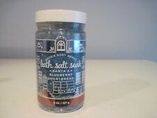 BATH AND BODY WORKS SANTA'S BLUEBERRY SHORTBREAD BATH SALT SOAK