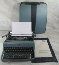 More details for vintage olivetti lettera 32 manual typewriter + original case + instructions