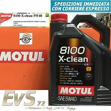 Motul 8100 X CLEAN 5W40 Olio Motore Auto VW 502 00 505 00 505 01 UFF. ITALIA 5Lt