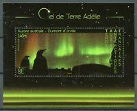 FSAT TAAF Birds on Stamps 2020 MNH Aurora Australis Penguins Polar Lights 1v M/S
