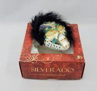 Silverado Blown Glass Painted Mask Ornament
