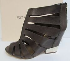 BCBGeneration BCBG Size 7 Brown Leather Wedge Heels New Womens Shoes