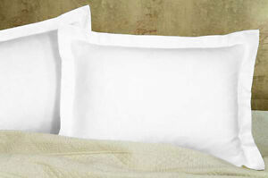 Solid Pillow Shams Pair 100% Egyptian Cotton 800 Thread Count All Sizes & Colors