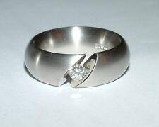 Niessing tensora anillo, anillo de platino platino pt 950 36 GR, brillante 0,26 CT, talla 57