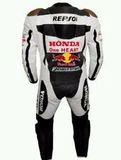 *REPSOL* Black/white Motorcycle/Motorbike leather suit-racing suit Motogp