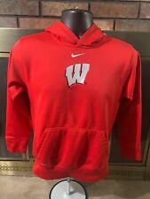 Wisconsin Badgers NCAA Football Hooded Hoodie Sweatshirt Youth Medium Nike Bucky