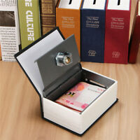 Secret Dictionary Book Safe Jewellery Money Cash Box Security Safety Key Lock D
