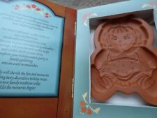 terracotta cookie mould rag doll mold Christmas biscuits  vintage