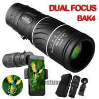 High Power 16x52 Day&Night Monocular BAK4 Zoom Hunting Camping HD Telescope+Clip