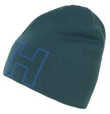 5579dda856c Helly Hansen Mens Outline Circular Jersey Knit Beanie Cap Hat One Size  Midnight Green