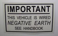 Negative Earth Mk1/2 Escort RS2000 Mexico Twin Cam RS1600 Cortina Capri & Others