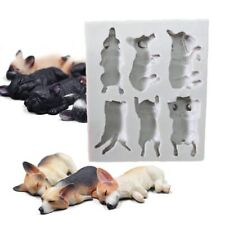 DIY 3D Sleeping Dog Silicone Soap Mold Embossing Designs Cake Making Decor Tools