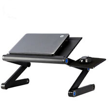 Adjustable Portable Folding Laptop Desk Table Stand Bed Tray with Cooling Fan
