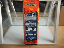 Matchbox 5-pack Police in Blue in Box