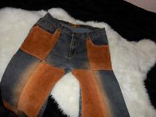 Jeans mit Cord-Applikationen