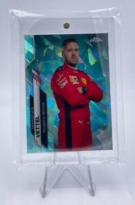 2020 Topps Chrome F1 Sapphire Sebastian Vettel #3 Aqua 63/99