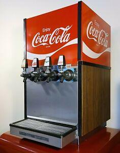 VINTAGE 1970s SODA FOUNTAIN DISPENSER MACHINE COCA-COLA LARGE 4-TAP RESTAURANT