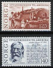 Norway 1975, Anniv Norwegian emigration to America MNH Sc 658-59