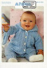 """2029 Bambini DK con cappuccio Cappotto Guanti e Pantaloni 14-18"""" 35-50cm VINTAGE Knitting Pattern"""