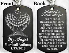 HEAVEN'S LITTLE ANGEL Dog tag Necklace or Key chain + FREE ENGRAVING