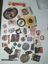 Vintage Junk Drawer Lot -pins buttons Tokens patches Antiques lot 48