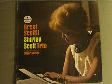SHIRLEY SCOTT TRIO GREAT SCOTT!! LP ORIG '64 IMPULSE! STEREO AS-67 SOUL JAZZ VG+
