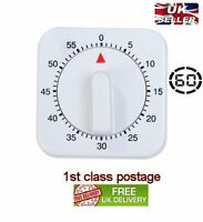 Simple Square 60 Minute Mechanical Kitchen Cook Cooking Timer Food Preparation