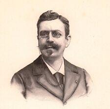 Portrait XIXe Léon Hennique Basse-Terre Guadeloupe Ecrivain Romancier