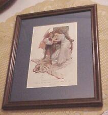 "Harrison Fisher ""Truxton King"" Illustration - 1909 Framed Beautiful Gown #2"