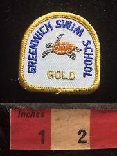 TURTLE Greenwich Swim School Patch ~ Gold S74P