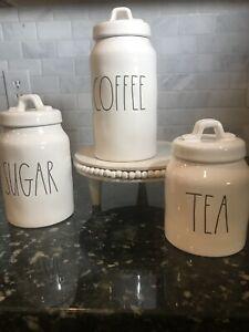 Rae Dunn Coffee Tea Sugar Canister Set  New