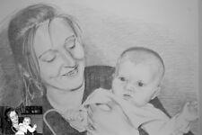 Portrait Zeichnung nach Fotovorlage nach Foto Bleistift A3