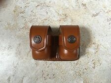 High Quality Leather Double Speedloader For 5-6-7 Shot 38 Special & .357 Magnum