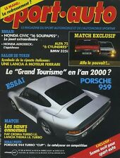 SPORT AUTO n°292 03/1986 PORSCHE 959 ALFA 75 V6 BMW 325 AVEC ENCART & POSTER