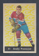 1961 Parkhurst #51 Andre Pronovost Montreal Canadiens EX to EX Plus