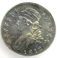 1812 SILVER CAPPED BUST HALF DOLLAR ICG MS-62  NICE COLOR RARE EARLY DATE B.U.