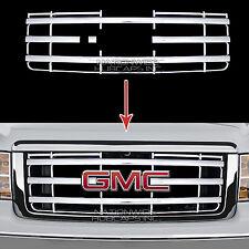 2007-2013 GMC Sierra 1500 CHROME Snap On Grille Overlay Full Grill Covers Insert